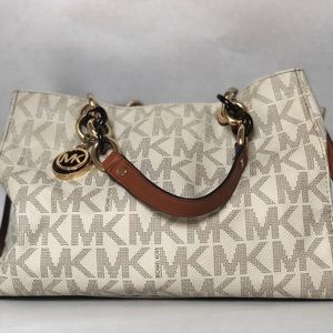 Cream Michael Kors Purse